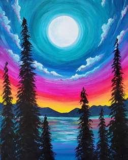 Moon Rise Forest