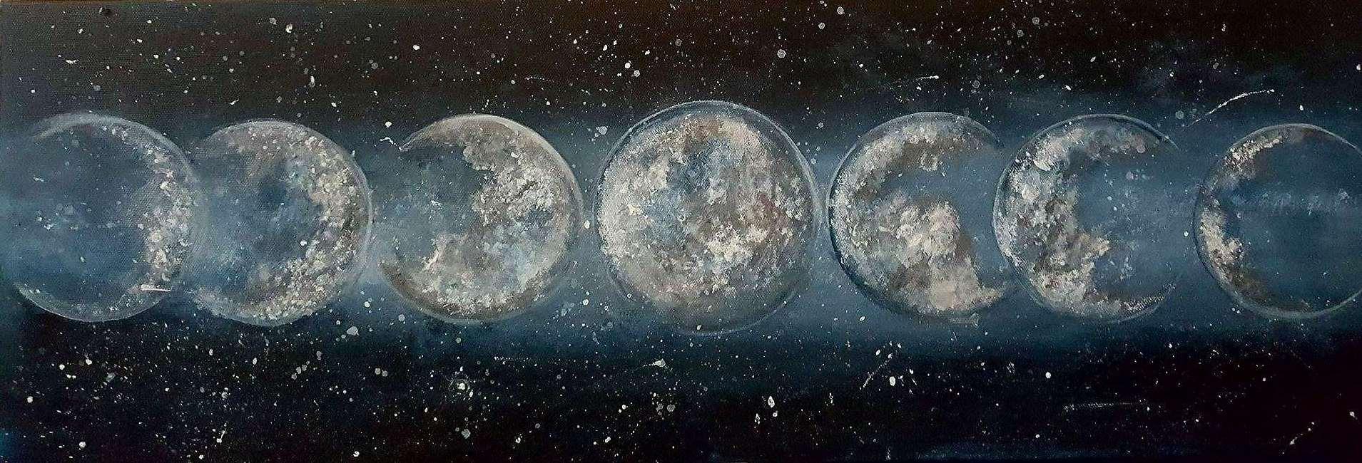 Moondancing - 10x30 Canvas
