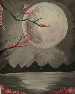 Moonlight Cherry Blossoms