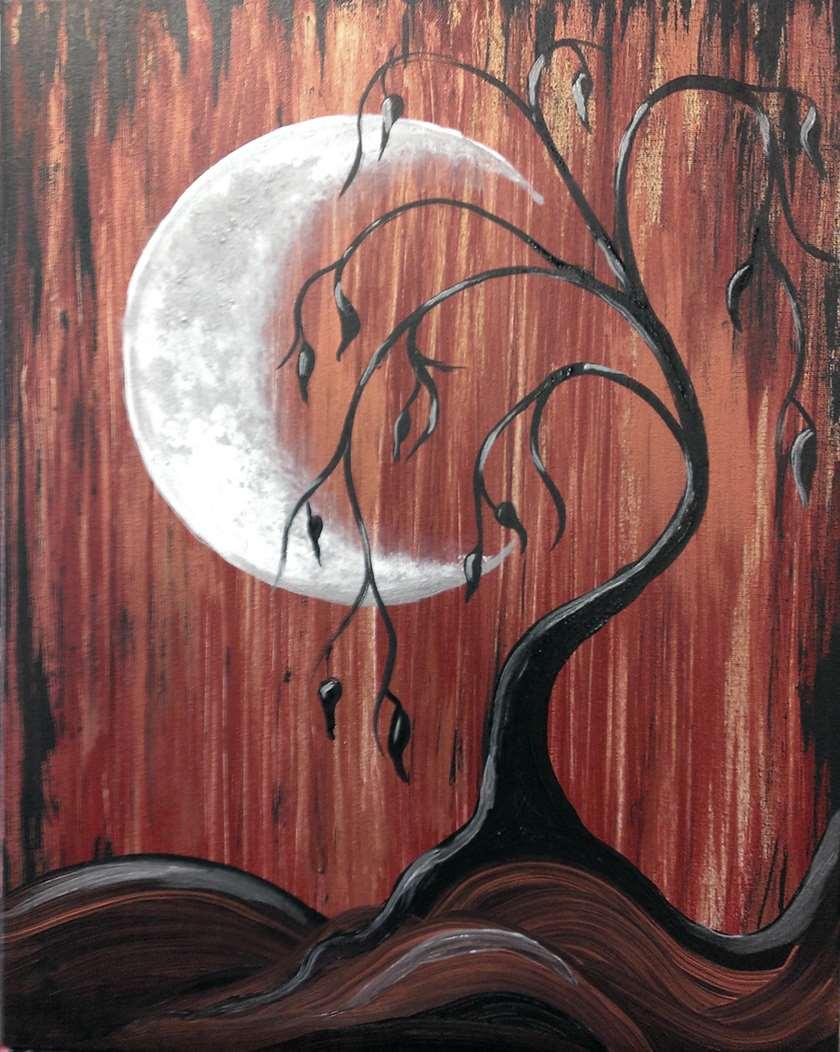 Mini Painting Video: Moonlight Lament