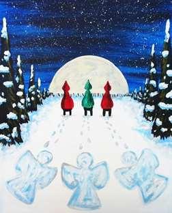 Moonlight Snow Angels
