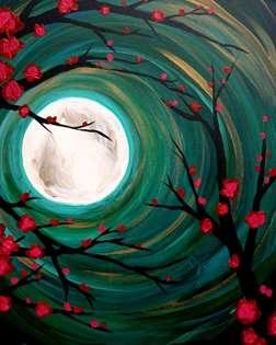 Moonlight Through the Trees