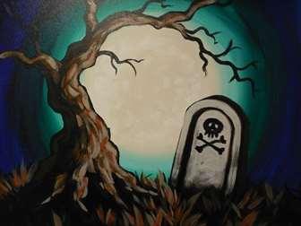 Moonlit Cemetery