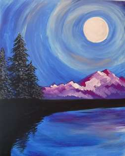 Moonlit Mountain