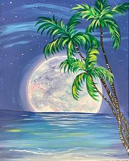 Moonlit Palms