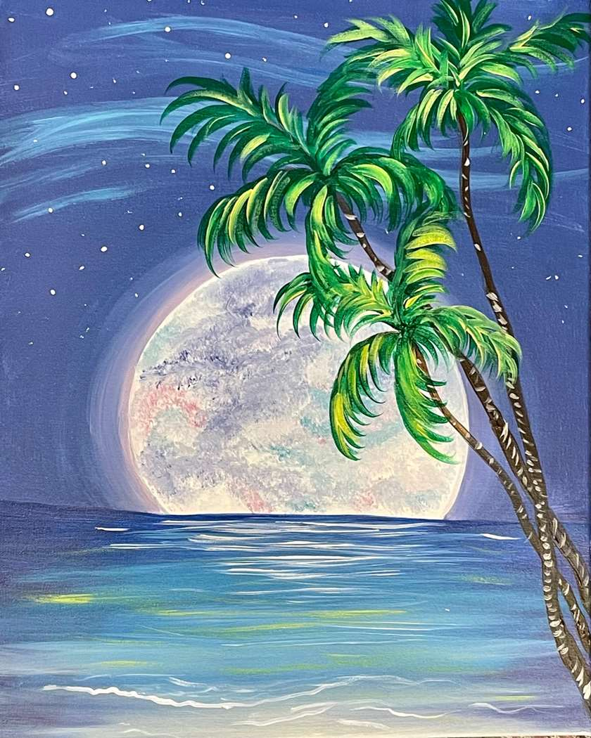 Moonlit Palms - In Studio Event - Limited Seating Available