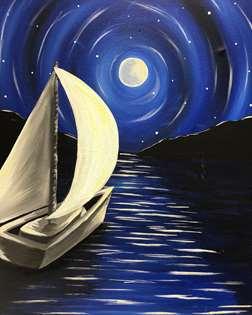 Moonlit Sail