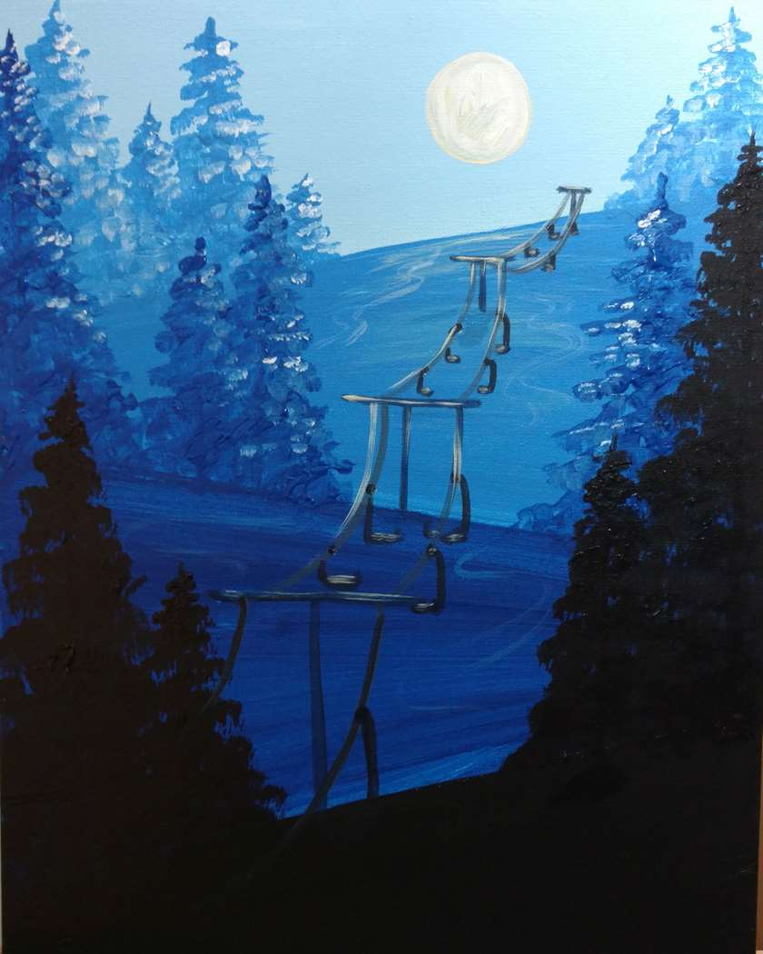 Moonlit Slopes
