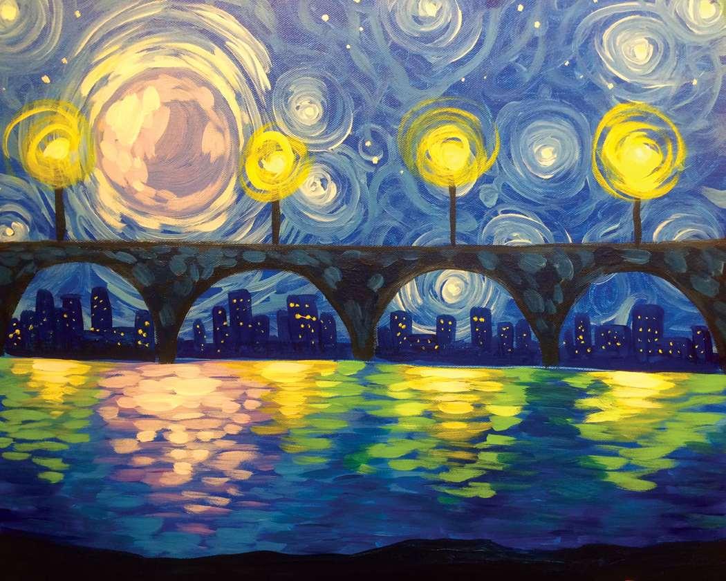Moonlit Waterfront