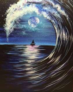 Moonlit Wave