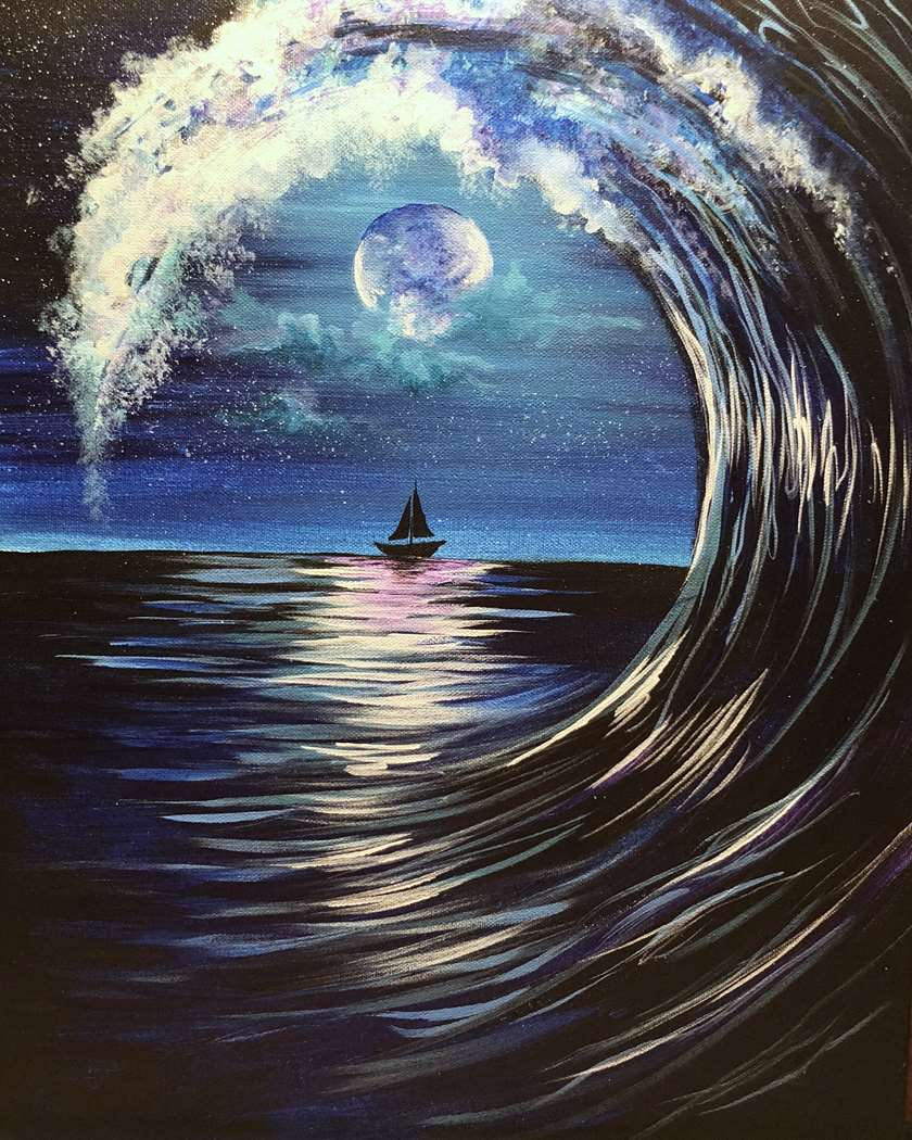 Moonlit Wave