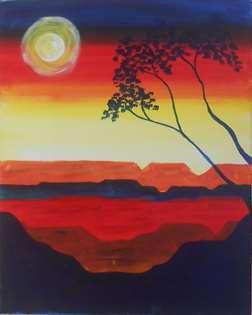 Moonrise at Sunset