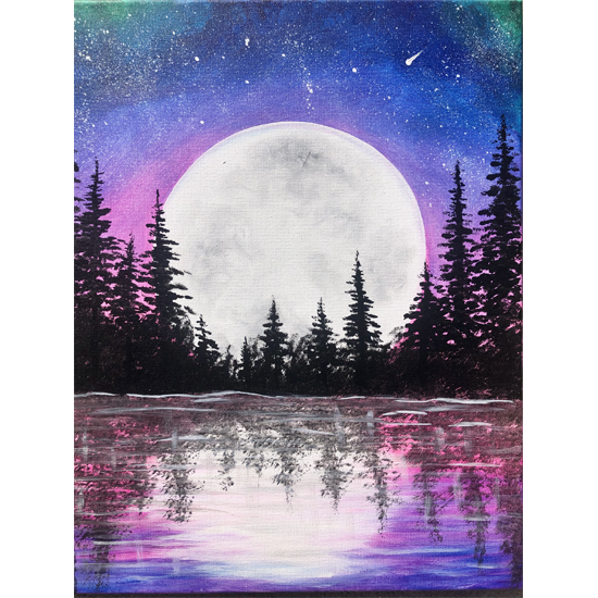 IN STUDIO CLASS: MOONRISE LAKE - LIMITED SEATING