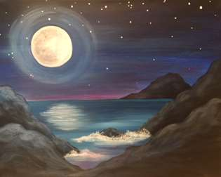 Moonrise on Orchid Sand Cove
