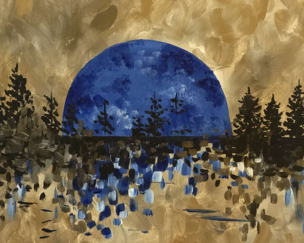 "Celebrate Tonight's Blue Moon! ""Moonscape"""