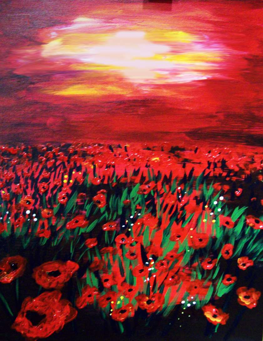 """In studio Event! """"Morning Poppies"""""""