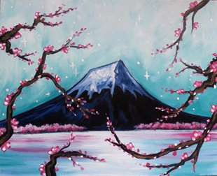 Mount Fuji Through The Blossoms