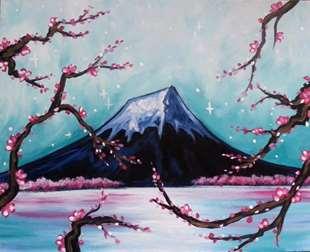 Mount Fuji Through The Blossoms