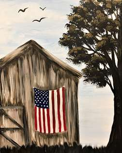 Rustic Barnside Flag