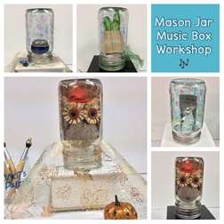 Musical Mason Jar: Music Box Craft