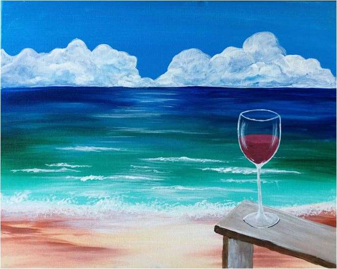 NEW PAINTING! MY HAPPIEST HOUR...YES!