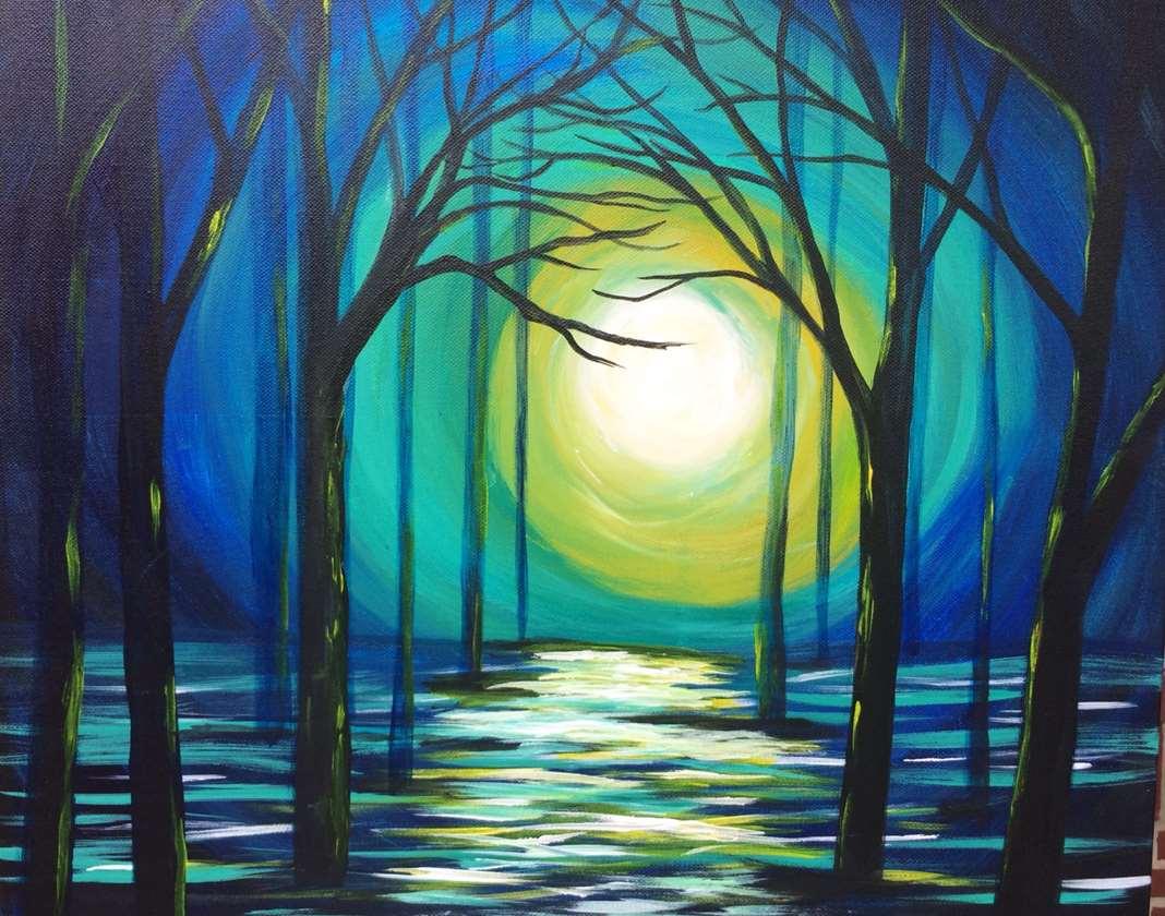 Black Light Night!  Mystic Moon