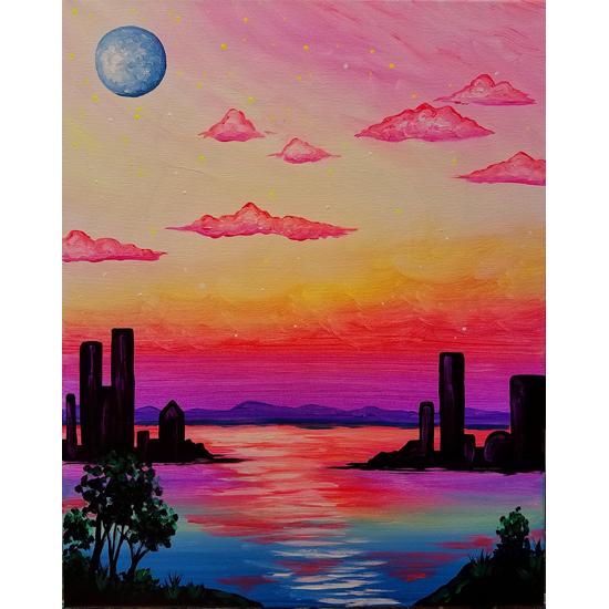 Black Light Painting - Mystical City!