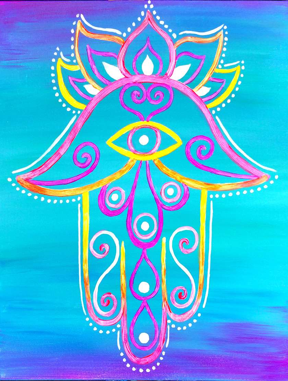 Neon Hamsa