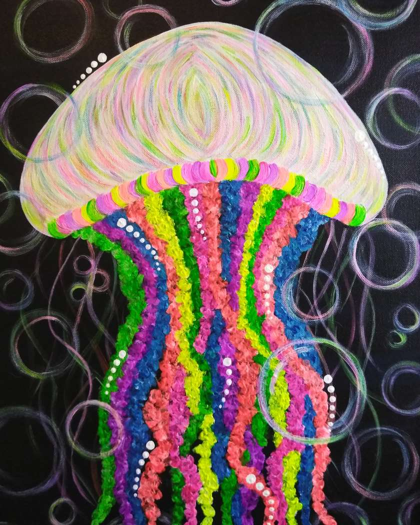 Neon Jelly Fish
