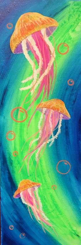 Neon Jellyfish Trio