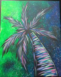 Neon Night Palm
