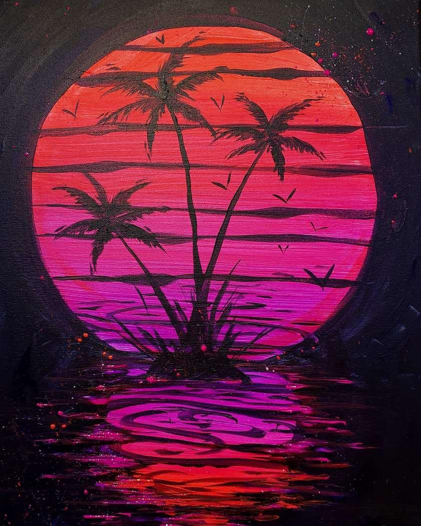Neon Retro Beach