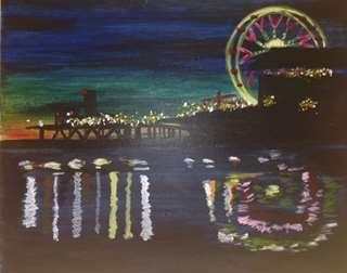 Nightfall on Santa Monica Pier