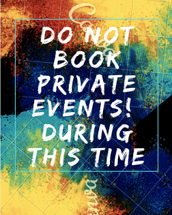 No Private Parties Available During This Time