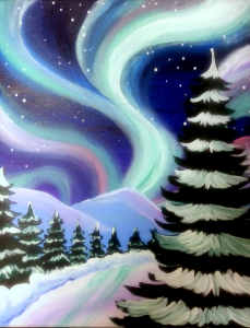 Northern Lights Over the Pines