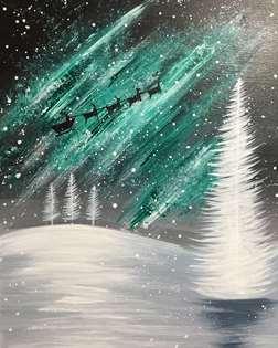 Northern Lights Santa's Sleigh