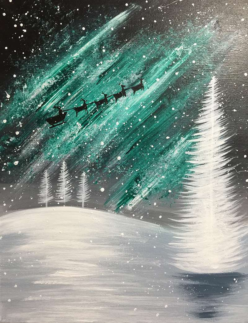 Northern Lights Santa's Sleigh