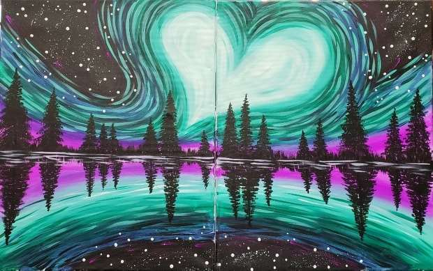 Northern Love Lights Date Night - In Studio - Limited Seating Available