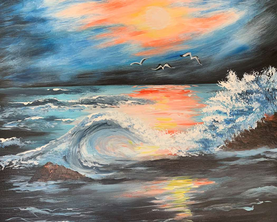 IN STUDIO CLASS: OCEAN NIGHT SKY - LIMITED SEATING