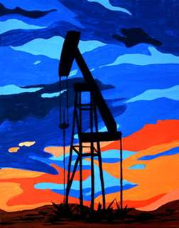 Oil Rig at Dawn