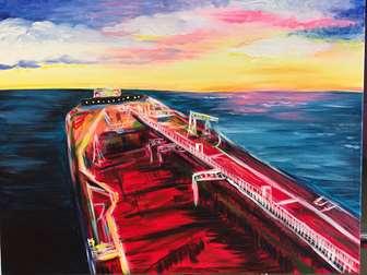 Oil Rig at Sea