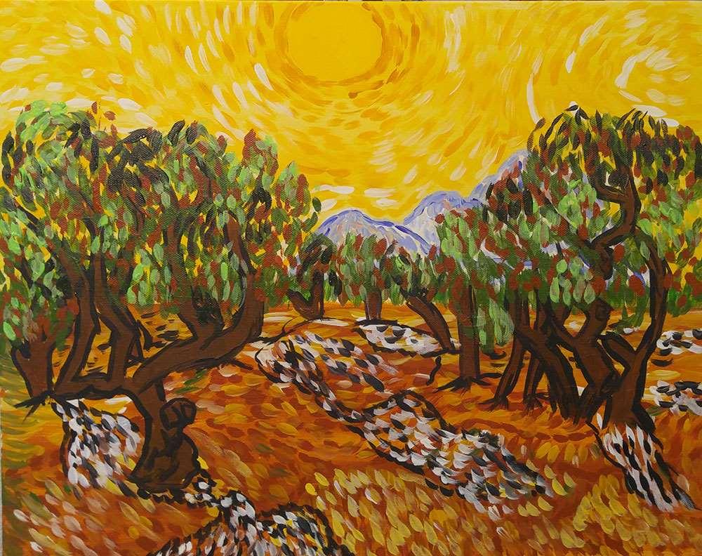 Olive Trees à la Van Gogh