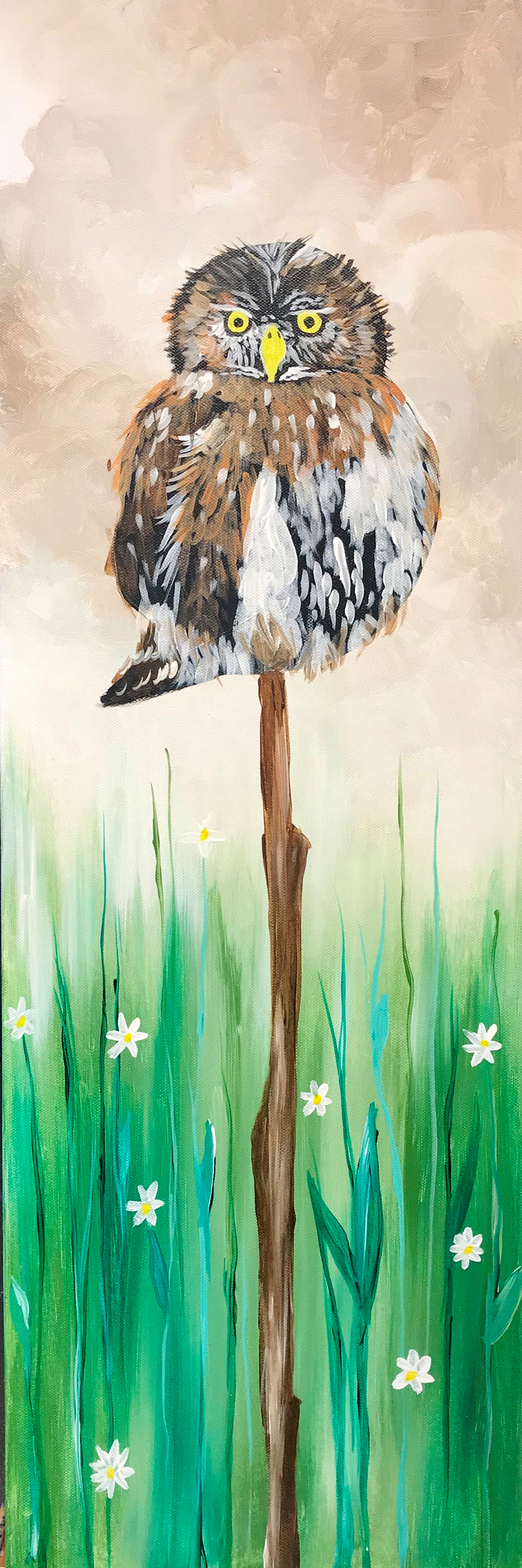 """""""on watch"""" 10 x 20 canvas with Artist Shannon"""