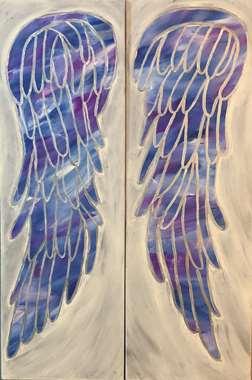 Opalescent Angel Wings