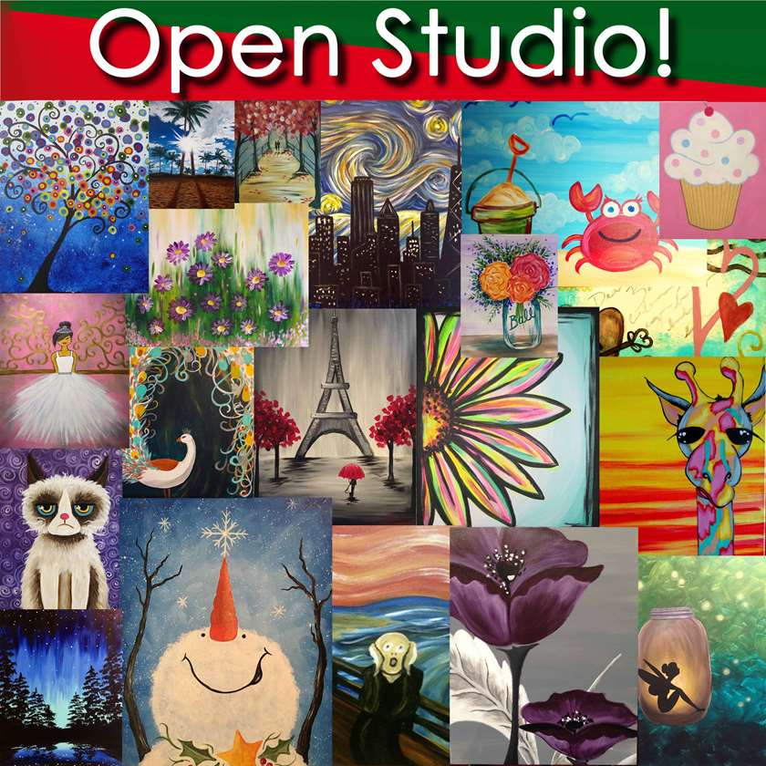 OPEN STUDIO WORKSHOP!! - IN STUDIO EVENT- LIMITED SEATING DUE TO SOCIAL DISTANCING