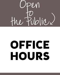 Office Hours/Staff Meetings