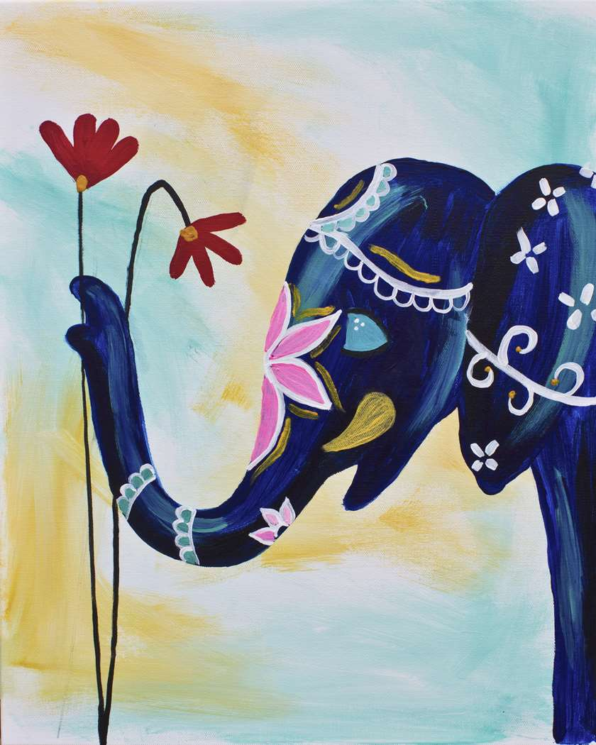 Opulent Elephant Virtual Class: Live or On Demand