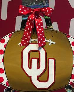 OU Football Door Hanger