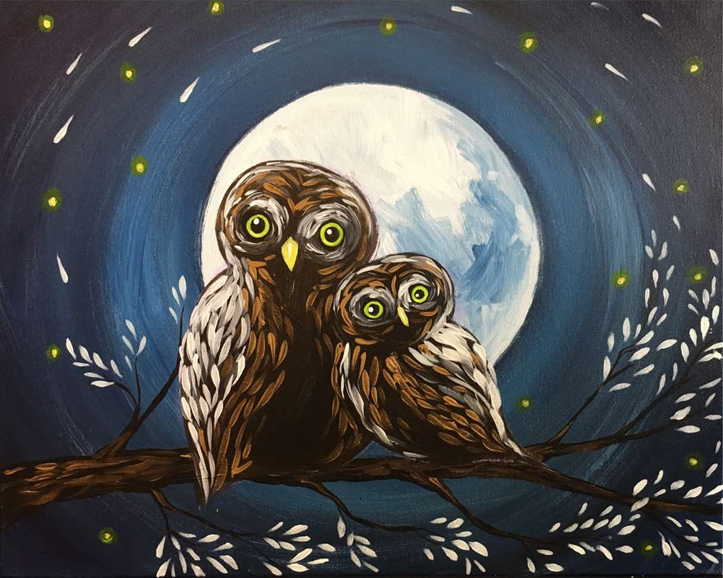 Owl at the Moon