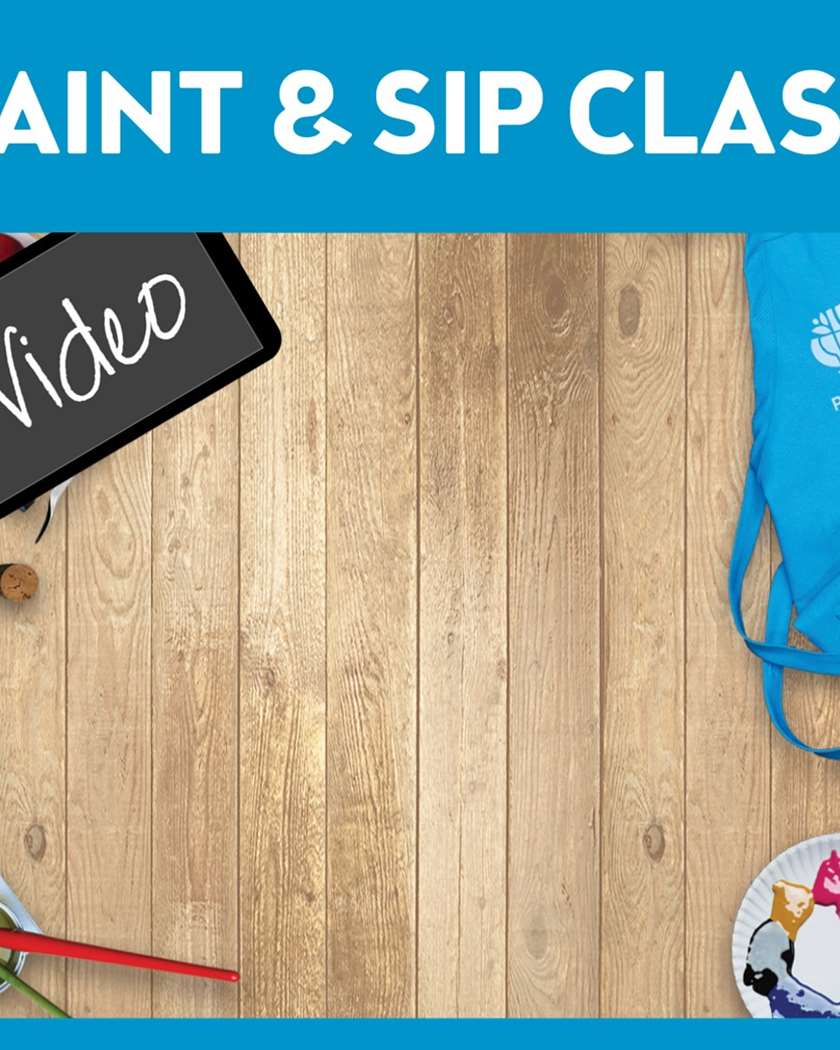 Paint & Sip Video - PAINTING KIT INCLUDED  - WATCH NOW or Later up to 7 days